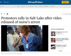 Salt Lake Nurse Blood Draw Arrest Chicago Tribune